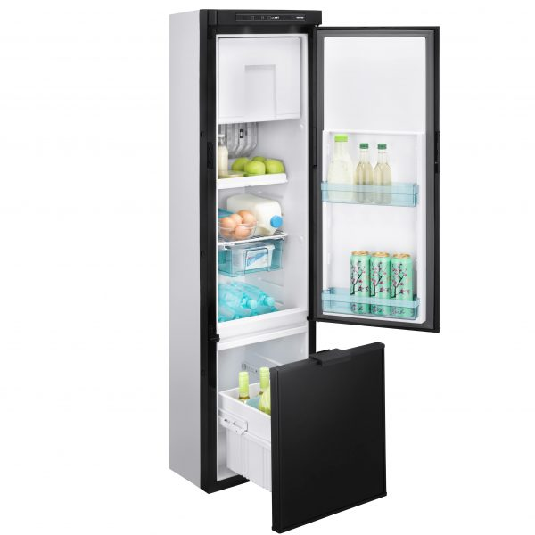 Norcold N3141 Refrigerator - Side view - Door and Drawer Open