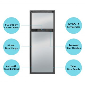 Norcold Polar NA10LX Refrigerator Front View